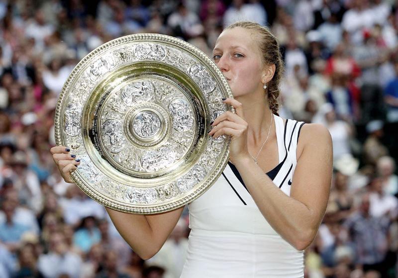Divkārtējo Vimbldonas tenisa čempionāta uzvarētāju Petra Kvitova - Sportazinas.com