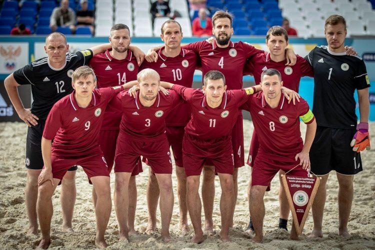 Latvijas pludmales futbola izlase, sportazinas.com