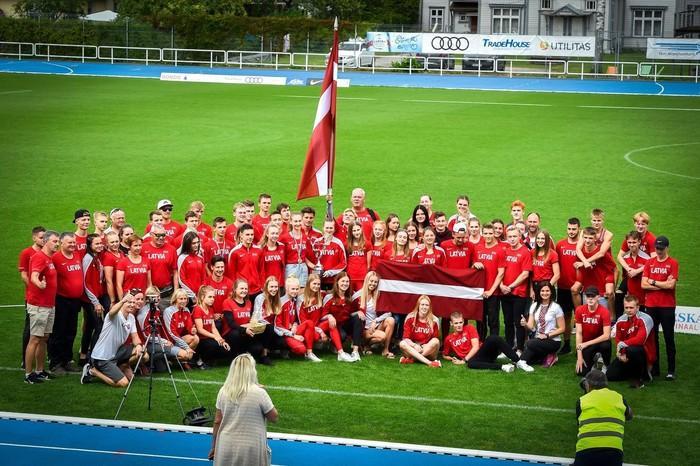 Latvijas jauniešu un junioru vieglatlētikas komanda