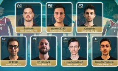 Pašreizējie Eiropas čempioni e-basketbolā - Turcijas izlase