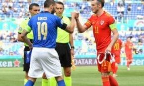 Itālijas un Velsas izlašu kapteiņi