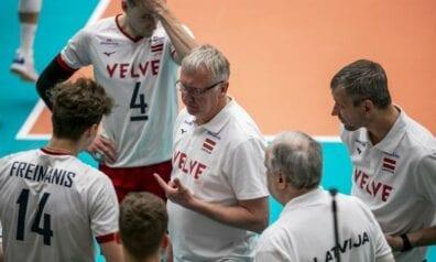 Avo Kēls un Latvijas izlases volejbolisti