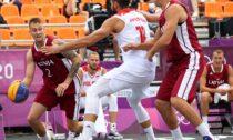Latvijas un Polijas 3x3 basketbola komandas