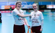 Latvijas U19 sieviesu izlases florbolistes