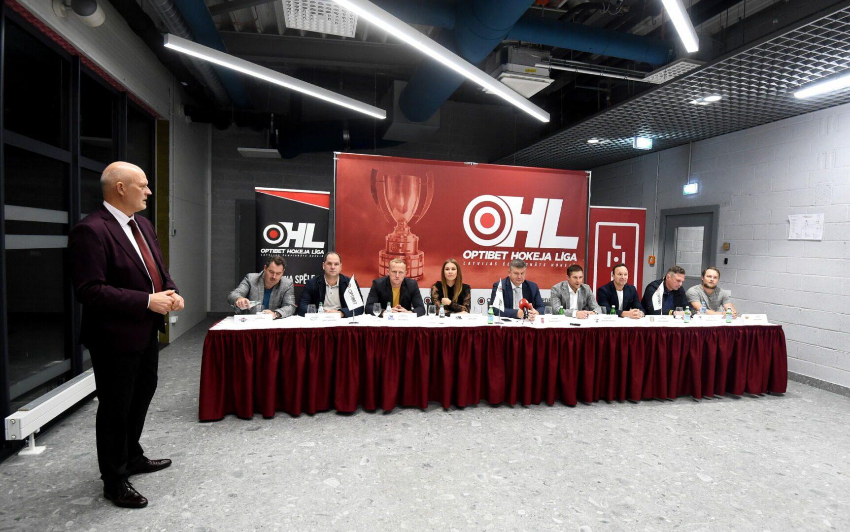 """Optibet"" hokeja līgas preses konference"
