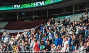 U19 telpu futbola spēle Arēnā Rīga