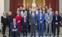 Krišjānis Kariņš kopā ar Latvijas olimpiešiem un paraolimpiešiem