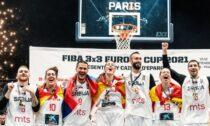 Serbijas un Spānijas 3x3 basketbola izlases